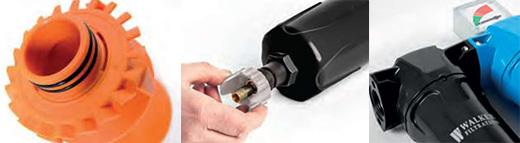 SR气水分离器的翅片排水阀接口细节