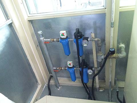 SR压缩空气加热器在日产汽车车间