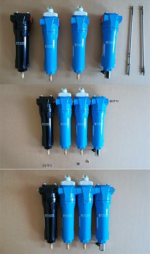 多级WALKER压缩空气过滤器的无缝连接过程