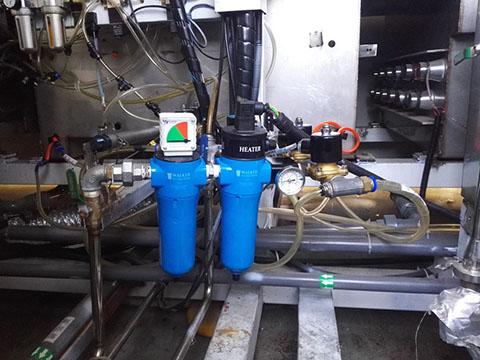 前端有预过滤器的WALKER加热器在项目应用中