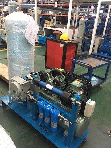 SR空压机后处理设备集成到小系统中