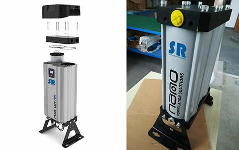 水泥厂的压缩空气系统可以选择的SR模块化吸干机